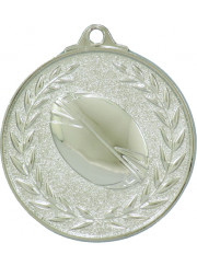 MX913S Silver Rugby Medal 50mm