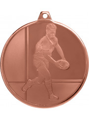 MZ913B Bronze Rugby Medal 50mm