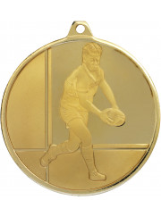 MZ913G Gold Rugby Medal 50mm