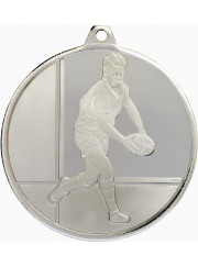 MZ913S Silver Rugby Medal 50mm