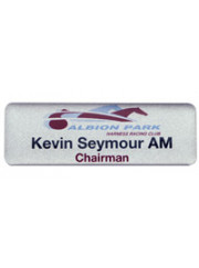 Silver Name Badge 73x27mm