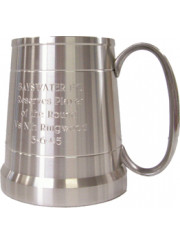 PTC20 Pewter Mug / Tankard - Pint 580ml